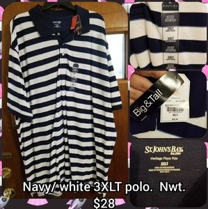Navy/ white 3XLT polo shirt